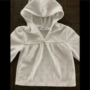The Children's Place white fleece pullover
